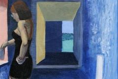 Falder i staver Akrylmaleri 25x25 cm 5000,-kr m.r.