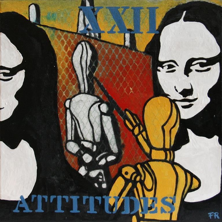 Attitudes XXII Akrylmaleri 40x40 cm 4200 mr