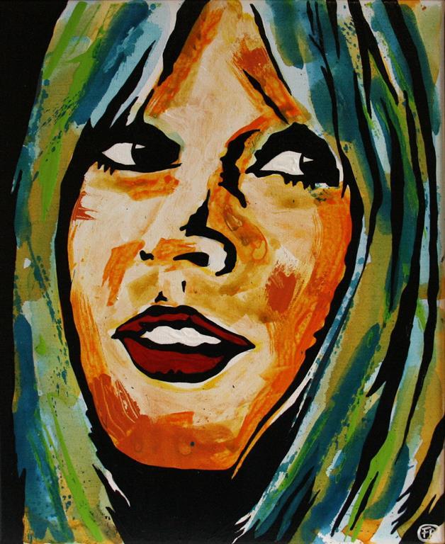 BB (Birgette Bardot) vol.1 Akrylmaleri 50x40 m 4000 mr