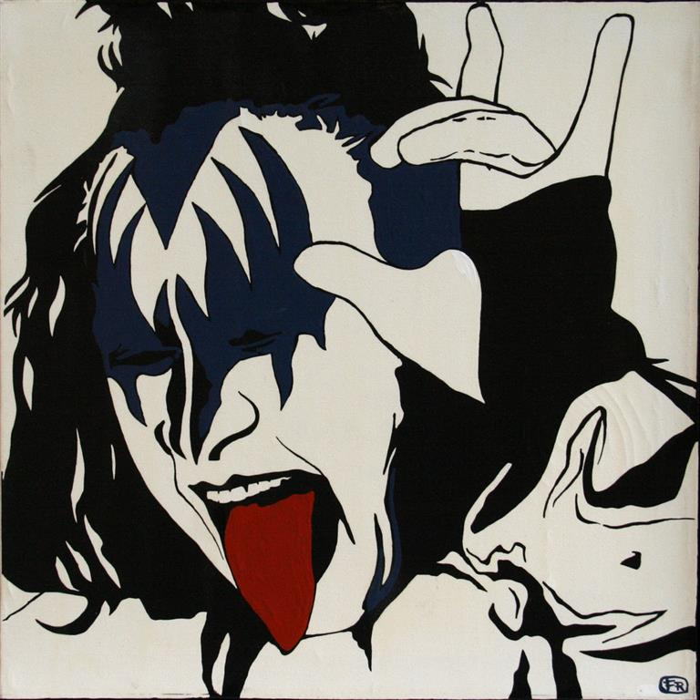 Gene Simmons Mix.media 45x45 cm 3000 mr