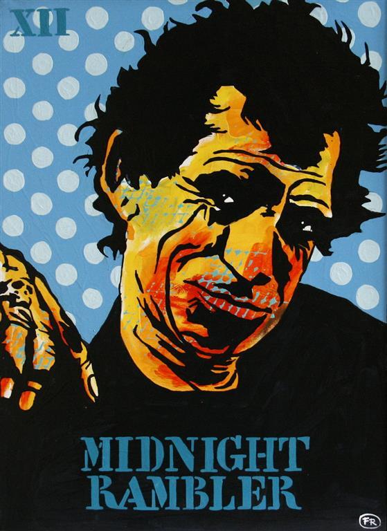 Midnight Rambler XII Akrylmaleri 70x50 cm 5200 mr