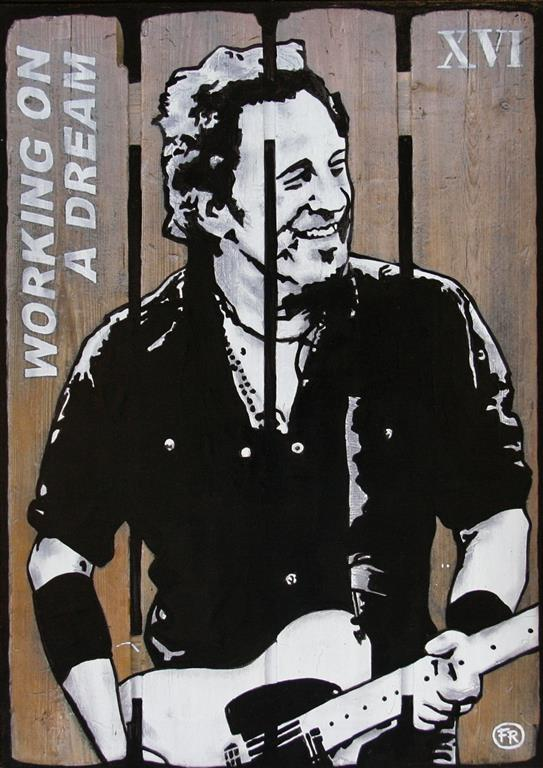 Working on a dream (Springsteen) Mix.media 60x43 cm 2400 mr