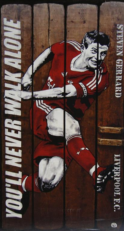 You will never walk alone (Gerhard) Mix. media 60x32 cm 1900 mr