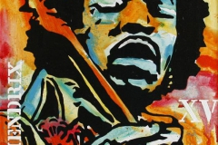 Hendrix XV Akrylmaleri 70x50 cm 5200 mr