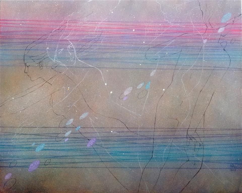 Øyeblikk Akrylmaleri (80x100 cm) kr 10000 ur