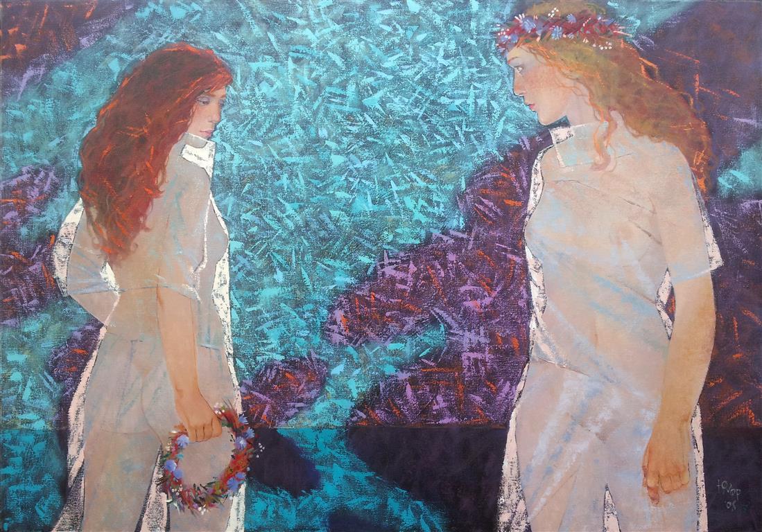 Jeg og min skygge (Oljemaleri (70x100 cm) kr 15000 ur
