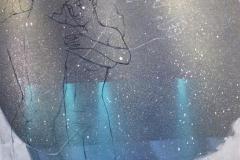 Dans II Akrylmaleri (70x50 cm) kr 7000 ur
