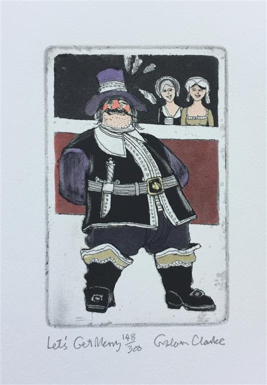 Let´s get merry Etsning (15x10 cm) kr 1500 ur