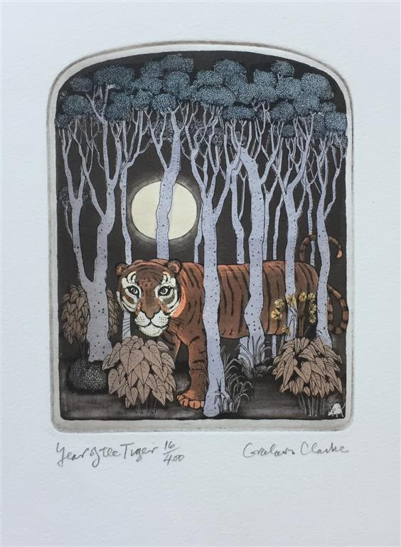 Year of the Tiger Etsning (18x14 cm) kr 1500 ur