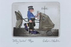 Jolly Sailor Etsning (9x11 cm) kr 800 ur