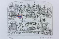 Stavanger Etsning (14x18 cm) kr 1500 ur