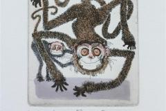 Year of the Monkey Etsning (13x11 cm) kr 1000 ur