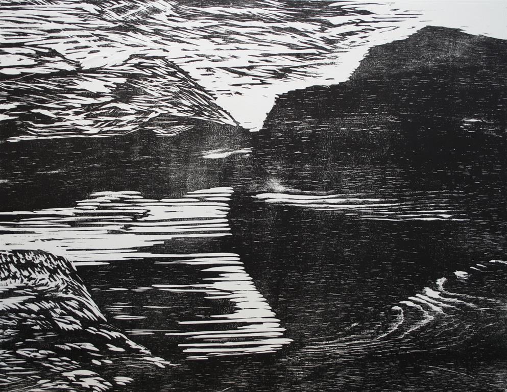 Stille vann Tresnitt 66,5x51 cm 1500 ur
