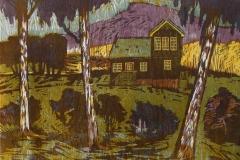 Droemmen om en hytte paa landet Tresnitt 51x66,5 cm 1600 ur