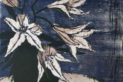 Kongeliljer Tresnitt 66,5x51 cm 1600 ur