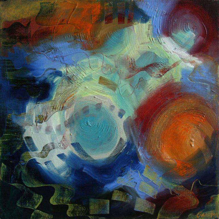 Bittersweet harmonies Akrylmaleri (60x60 cm) kr 6000 ur