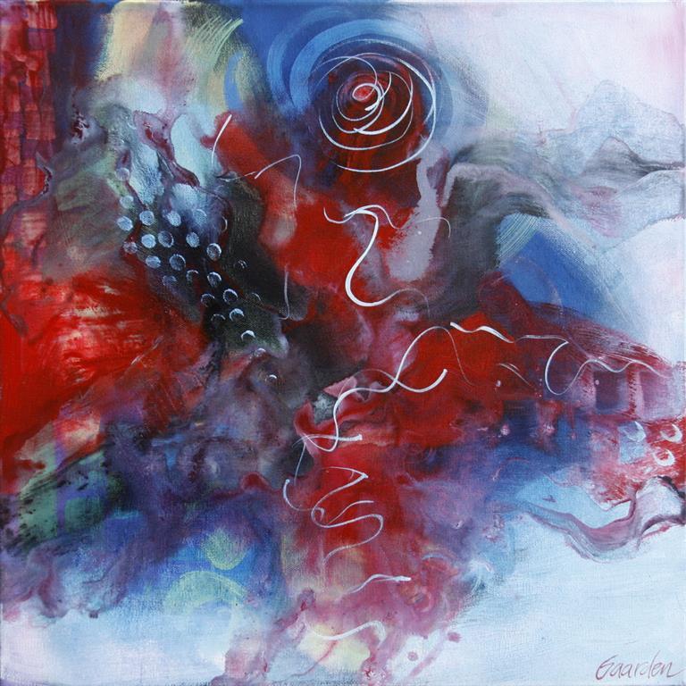 Dreams lost in water III Akrylmaleri (50x50 cm) kr 5000 ur