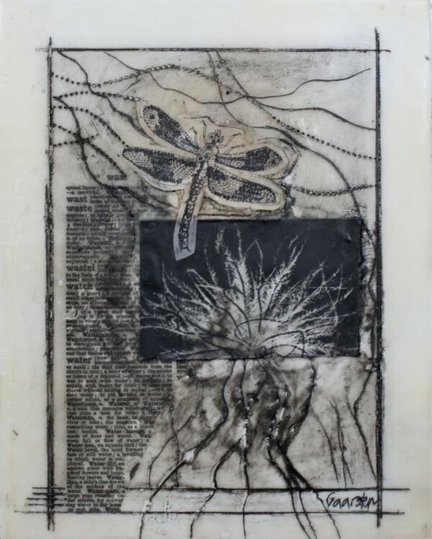Frø 4 Encaustic (25x20 cm) Solgt