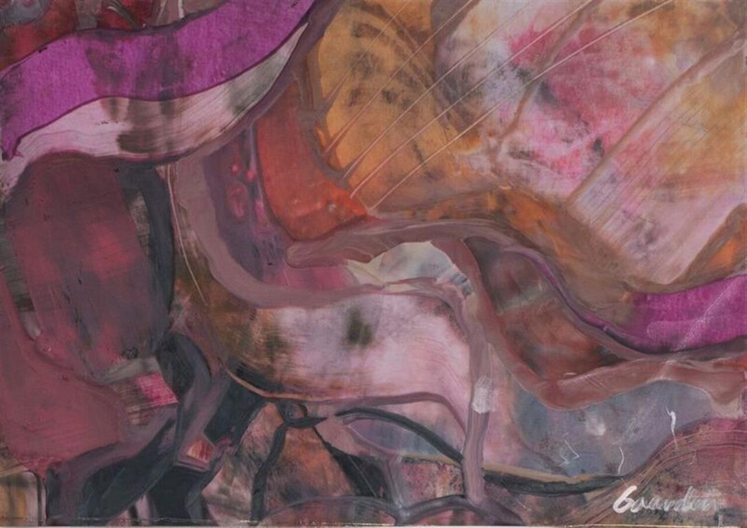Komposisjon 10 Encaustic (36x32 cm) kr 2500