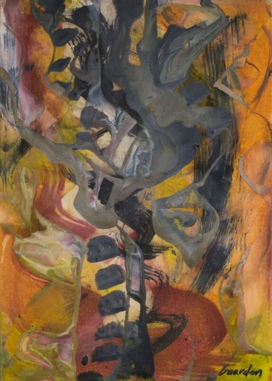 Komposisjon 11 Encaustic (36x46 cm) kr 3500