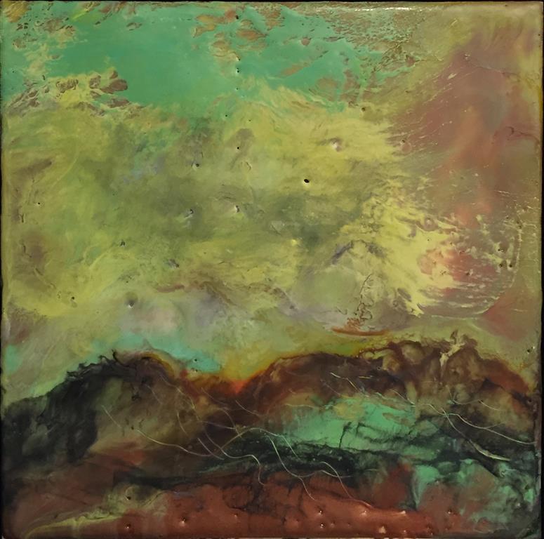 Landskap 25 Encaustic (22x22 cm) kr 2000