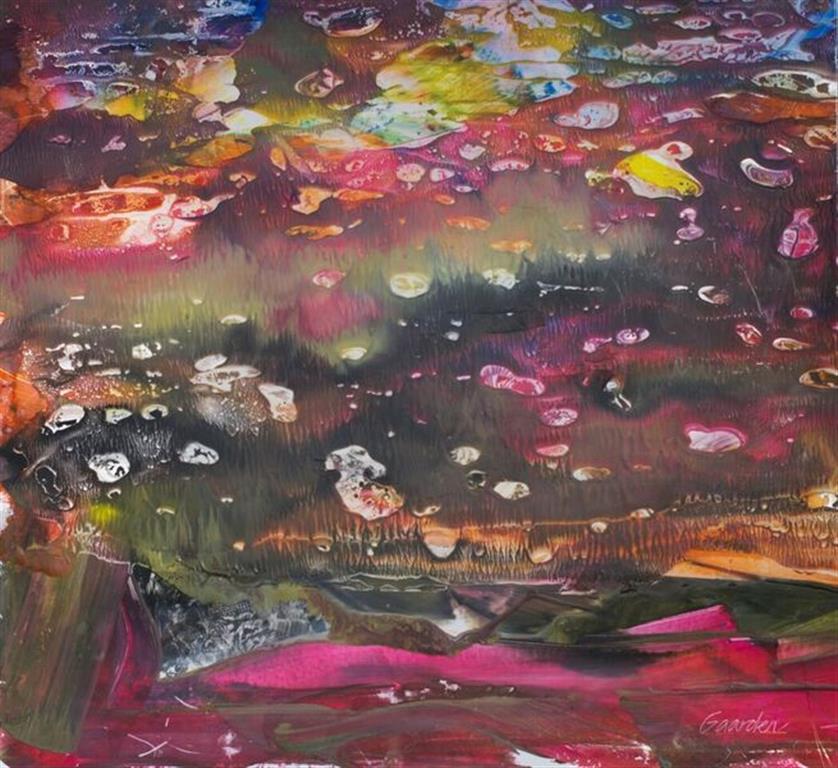 Vannliljer Encaustic (50x48 cm) Solgt