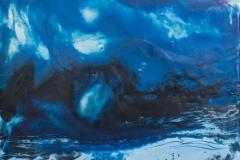 Landskap 10 Encaustic ( 22x22 cm) kr 2000