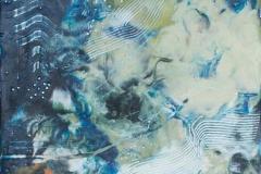Landskap 16 Encaustic ( 22x22 cm) Solgt