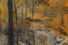 Landskap 21 Encaustic (22x22 cm) kr 2000