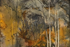 Landskap 23 Encaustic (22x22 cm) kr 2000