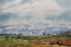 Sommer ved havet Akvarell (36x48 cm) kr 3000 ur