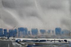 Ved Themsen Akvarell (30x40 cm) kr 2000 ur