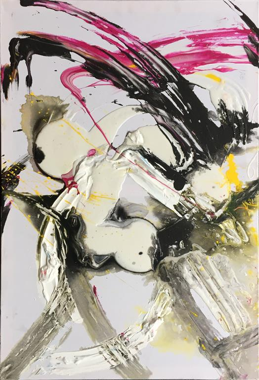 White winter del.1 Akrylmaleri (60x90 cm) kr 4000 ur
