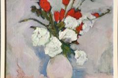 Blomster IV Akrylmaleri (50x50 cm) kr 3600 mr