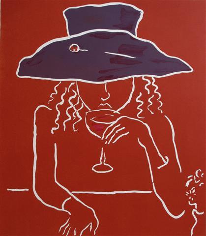 Vin V Litografi 52x42cm 2200,-kr u.r.