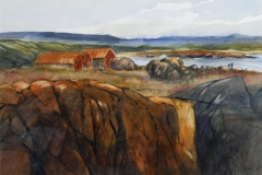 Jaeren Akvarell 35x49 cm 4000 mr