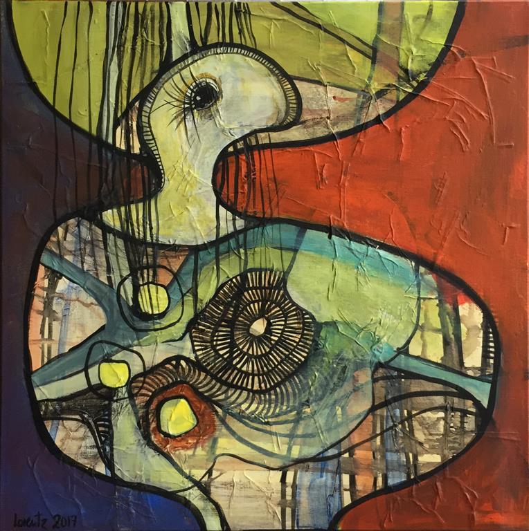 Solisten 14 Akrylmaleri (40x40 cm) kr 3400 ur