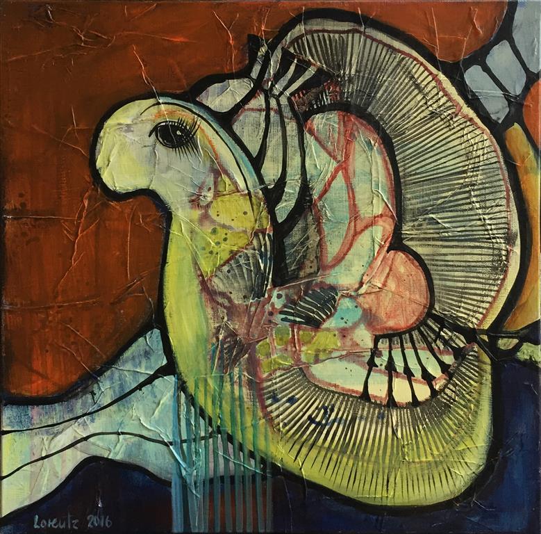Solisten 5 Akrylmaleri (40x40 cm) kr 3400 ur