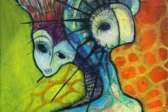 Frihedsgudinden Akrylmaleri 40x40 cm 3000