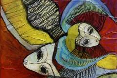 Koralhavsgemmer III Akrylmaleri 25x25 cm 2000 ur