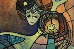 Rotation II Akrylmaleri (50x50) kr 4200 ur