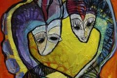 Soehestene Akryl paa MDF 25x25 cm 1500 ur