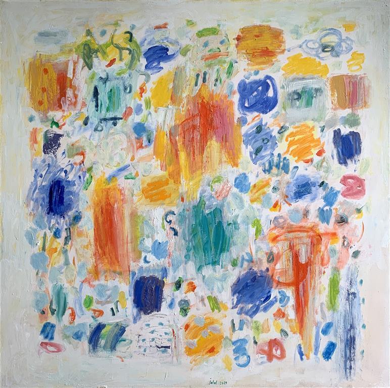 The jazz orchestra Oljemaleri (120x120 cm) kr 38000 ur