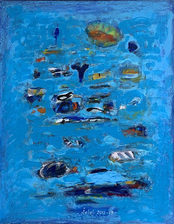 A seaside walk I Akrylmaleri (65x50 cm) kr 13000 ur