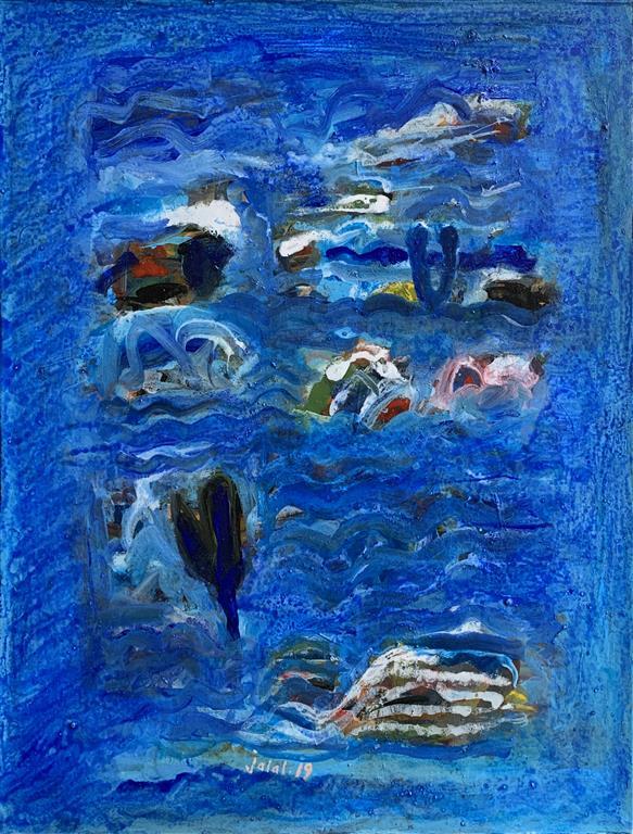 A seaside walk II Akrylmaleri (65x50 cm) kr 13000 ur