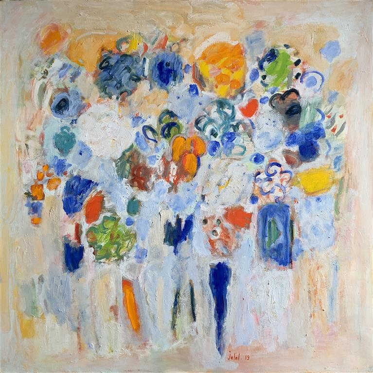 My soul in the garden Oljemaleri (100x100 cm) kr 29000 ur
