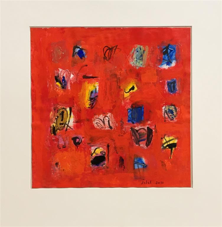 Komposisjon II Akrylmaleri (40x40 cm) kr 3800 ur