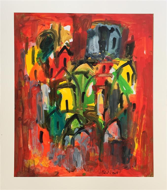 Komposisjon III Akrylmaleri (40x40 cm) kr 3800 ur