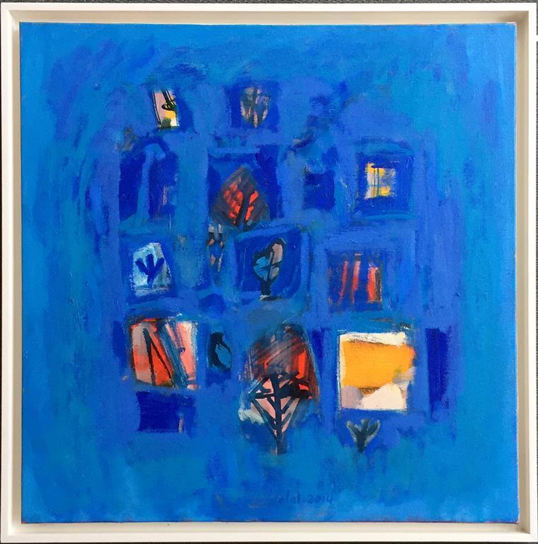 La chant de bleu Oljemaleri (60x60 cm) kr 12000 mr