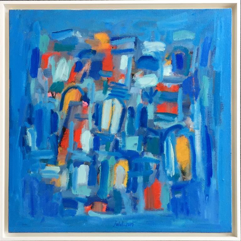 La maison blue Oljemaleri (60x60 cm) kr 12000 mr